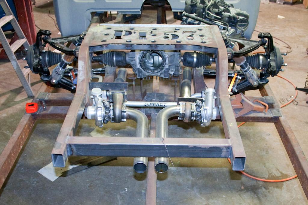 Ändrörs monterad turbo. L-6