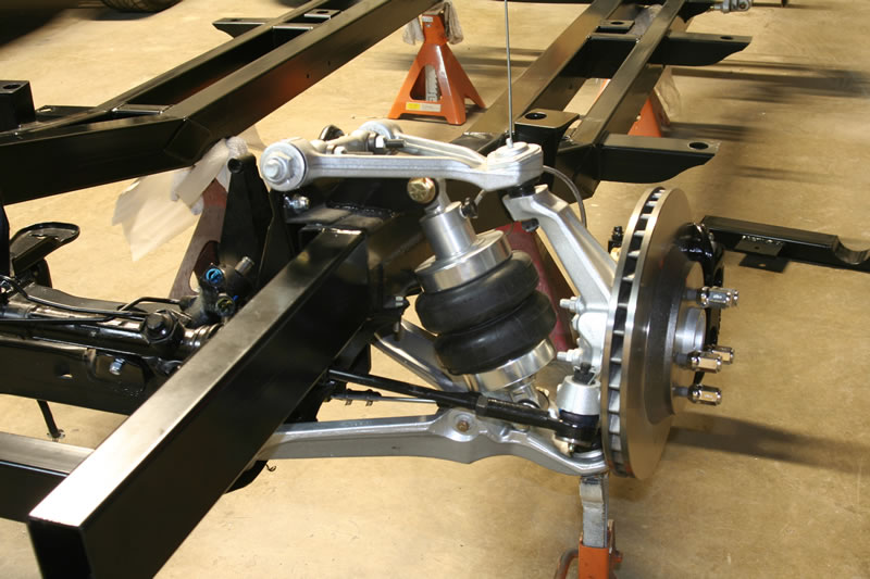 Suspension system in truck corvette